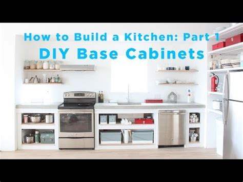 how to do kitchen cabinets yourself the total diy kitchen part 1 base cabinets how to save