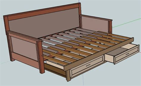 building a daybed pull out daybed cabin stuff pinterest