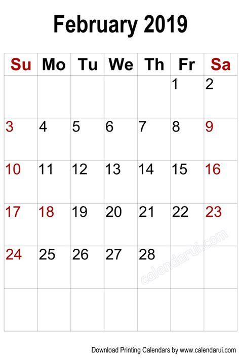 vertical blank february  calendar printable  calendar calendar printables
