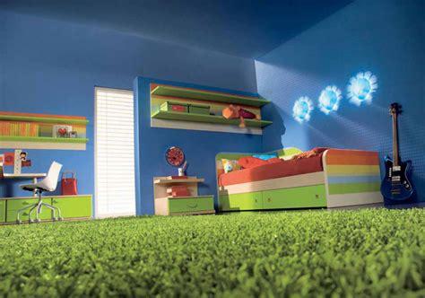 blue kids bedroom furniture blue kids bedroom with rainbow color furniture interior design ideas