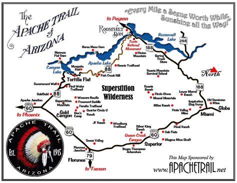 apache trail map les cactus n ont jamais soif apache trail