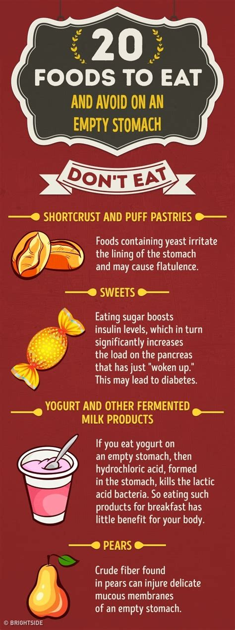 what are the best foods to eat 20 foods to eat and avoid on an empty stomach