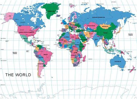 standar layout peta peta dunia vector