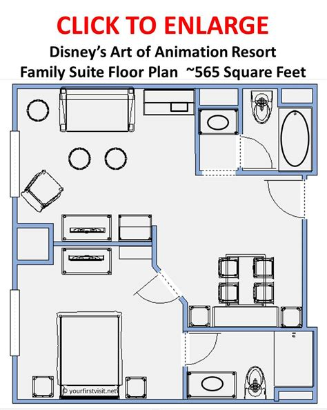 art of animation resort floor plans a family suite at art of animation or a deluxe room yourfirstvisit net