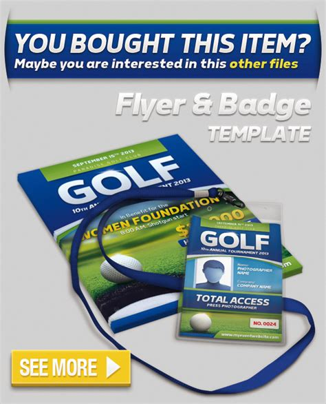 event badge template golf event banner and ticket template graphicriver