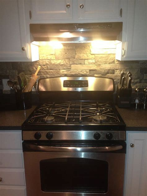 air stone backsplash from lowes basement bar iseas pinterest stone backsplash lowes and