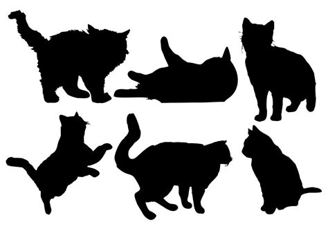 silhouette vector free cat silhouette vector download free vector art