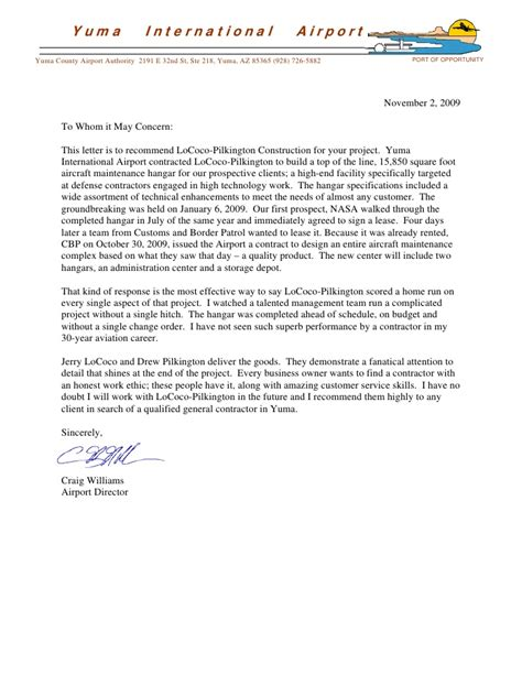 Recommendation Letter For A Maintenance Employee Letters Of Recommendation Lpc