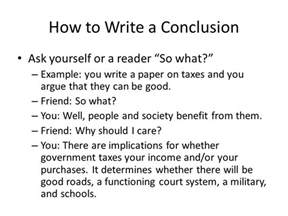 How To Write A Conclusion In Research Paper How Write Good Conclusion For How To Write The