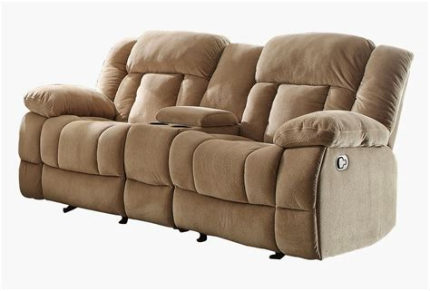 microfiber reclining sofa with console recliner sofa with console valencia 2 seater leather