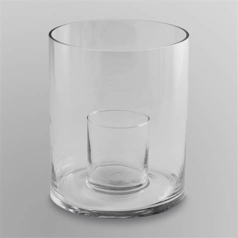 Large Hurricane Glass Vase essential home large glass pillar candle plate food grocery air fresheners candles