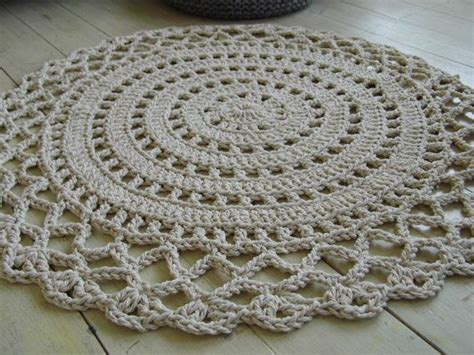 cotton rope crochet rug crochet rope doily rug 100 cotton