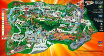 2012 six flags magic mountain map