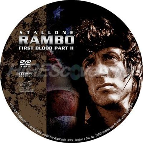 rambo blood part2 dvd cover custom dvd covers bluray label dvd