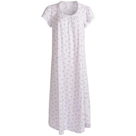 cotton knit nightgown nwt 55 carole hochman nightgown cotton knit purple print
