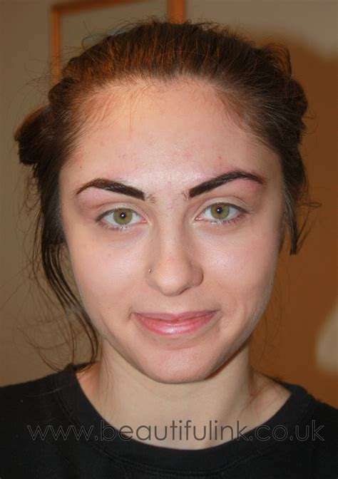 how to do a temporary eyebrow tattoo makeup