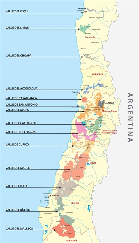 chile regions map a beginner s guide to chilean wine serious eats