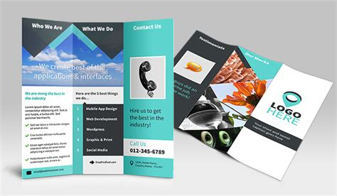 tri fold brochure photoshop template 22 free psd brochure design templates