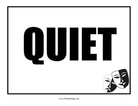 printable quiet signs printable quiet sign sign