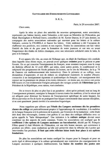 Exemple De Lettre Latine Revue De Presse Latine Loquere