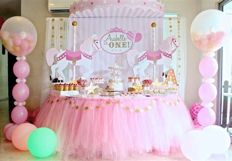 Pink Cup Cake Tsum Tsum Shortpants Pajamas celebrate with cake carousel themed dessert table click