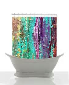 beautiful shower curtain morning has broken mosaic