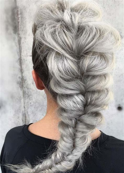 Wedding Hairstyles For Grey Hair by 85 Silver Hair Color Ideas And Tips For Dyeing