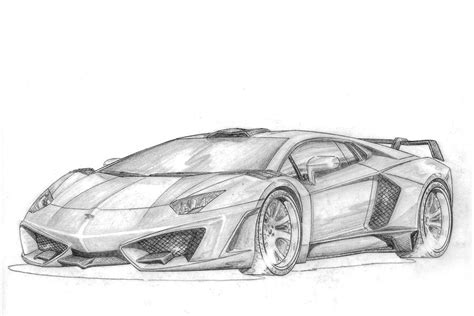 lamborghini front drawing aventador spidron by fab design