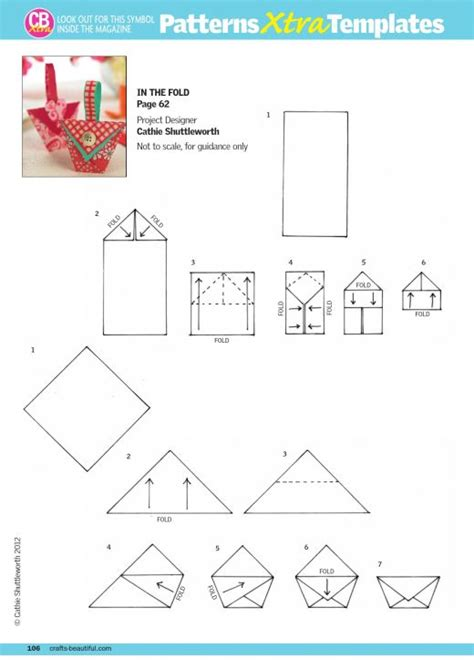 Cardmaking And Papercraft Free Downloads - pretty origami pouches free card downloads card