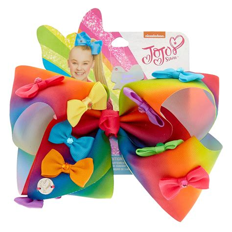 Jojo Siwa Bow By Timorashop jojo siwa large rainbow bow power hair bow s us