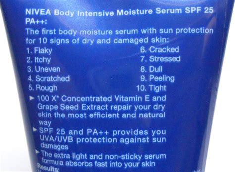 Nivea Intensive Moisture nivea intensive moisture serum review