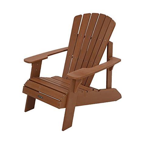 lifetime faux wood adirondack chair light brown 60064