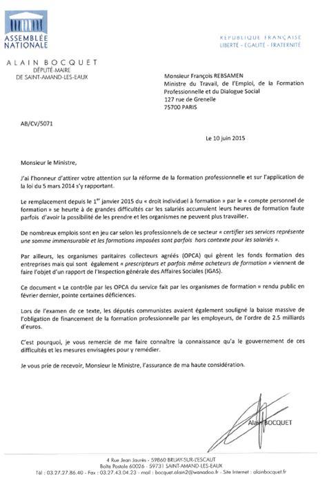lettre officielle pour un ministre les 233 lus demandent des comptes au ministre cpformation tout sur le compte personnel de