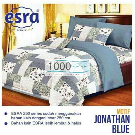 Sprei Katun Panca 65 esra jonathan blue 1000 sprei