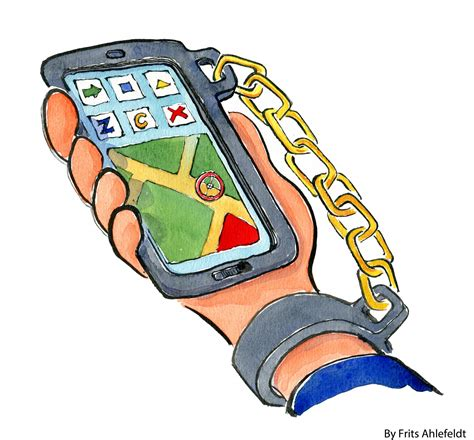 Technology Detox Illustrations by Chained To The Mobile Phone Research Drawings And