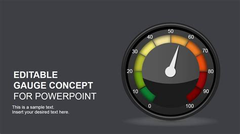 Editable Gauge Concept For Powerpoint Slidemodel Powerpoint Speedometer Template