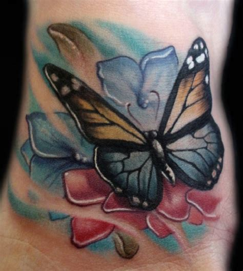 50 Butterfly Tattoos With Flowers For Women Nenuno Creative Butterfly Flower And Tattoos