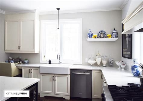 How To Update My Kitchen Cabinets updating the kitchen with open built in shelving