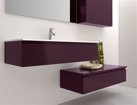 infinity in18 modular italian bathroom vanity in plum lacquer