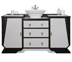 deco style bathroom vanity unit with a countertop