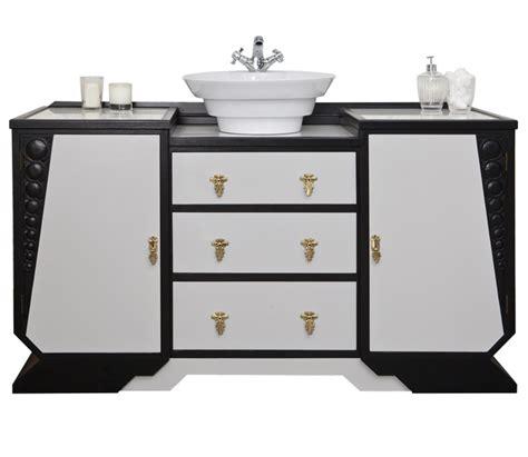 deco style bathroom vanity unit with a countertop