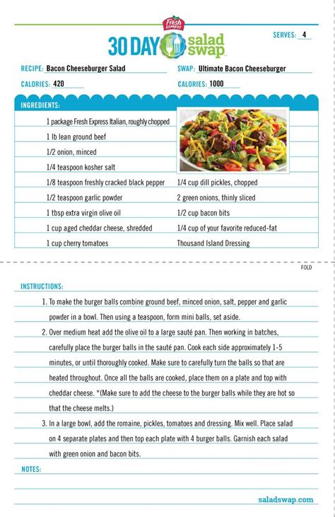 printable easy recipes 10 best fresh express 30 day salad swap images on