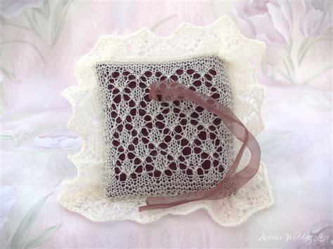 big lace wedding ring bearer pillow white paw