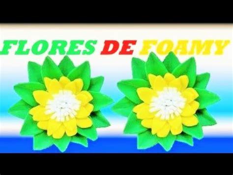 como hacer flores de goma eva manualidades como hacer flores de goma eva youtube