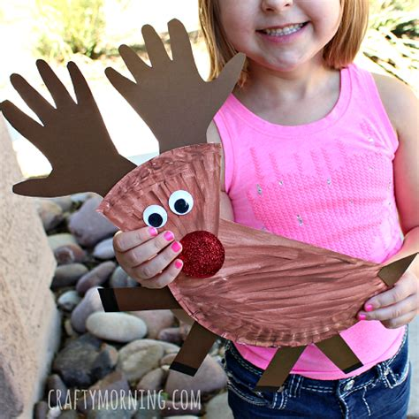 christmas ornaments to make with oreschool boy paper plate reindeer craft for crafty morning
