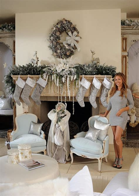 celebrity homes decor photos of brooke burke s christmas decor designed by