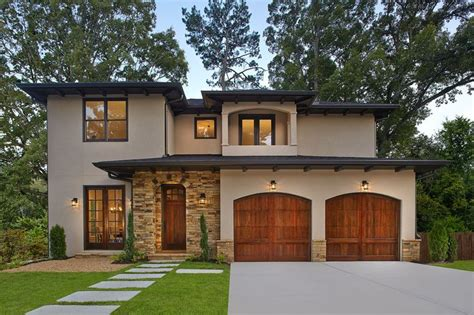 garage style homes mediterranean home with craftsman flair features stacked