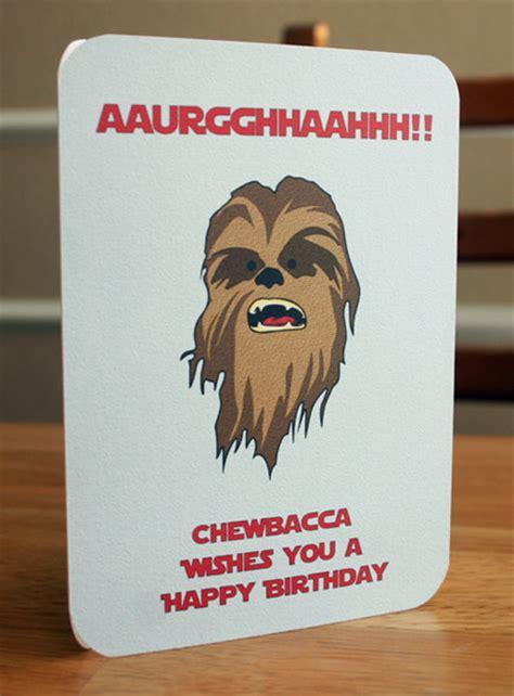 Chewbacca Birthday Card Star Wars Printable Birthday Card Chewbacca By