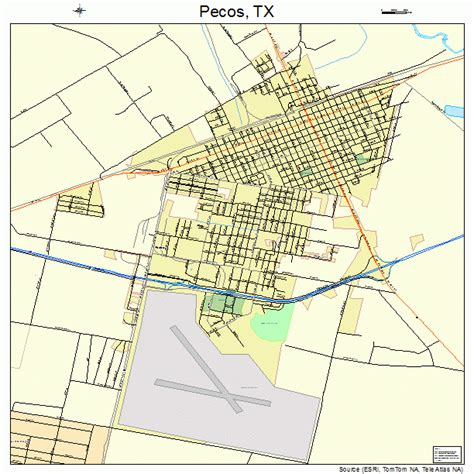 map pecos texas pecos texas map 4856516