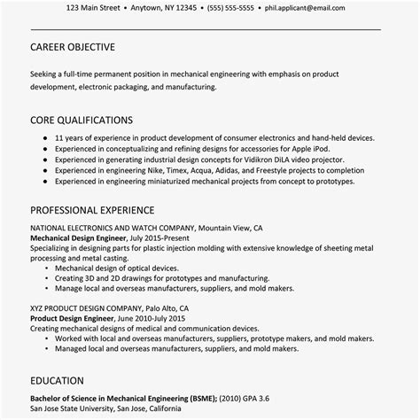 resume formats for engineers resume formats for fresher engineer